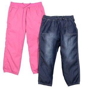 Light blue and Pink Passion Capri Pants Set